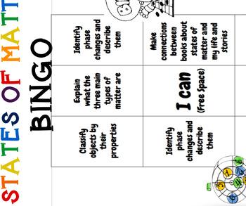 States of Matter Bingo