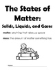States of Matter Booklet