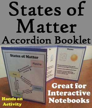 The States of Matter Foldable: Solid, Liquid, Gas, Plasma Interactive Notebook