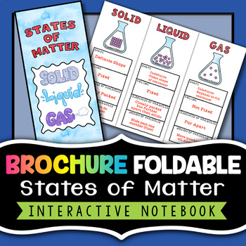 States Of Matter Foldable Brochure Great For Chemistry Interactive Notebooks