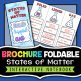 States of Matter Foldable Brochure - Great for chemistry interactive notebooks!