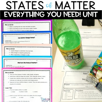 States of Matter Solid Liquid Gas Unit Hands on Activities