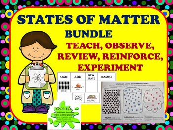 States of Matter Bundle: Teach, Observe & Review- Experime