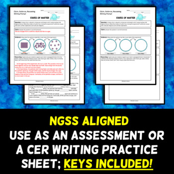 States of Matter - CER Writing Prompt - NGSS ALIGNED!