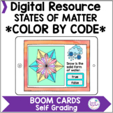 States of Matter Color by Code Coloring Pages Boom Cards™ Google™ Classroom