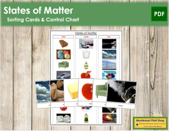 States of Matter: Cards & Chart