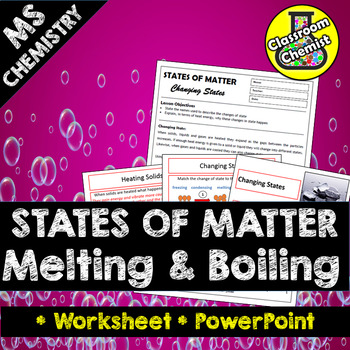 States Of Matter Changing State Melting Boiling By Classroom