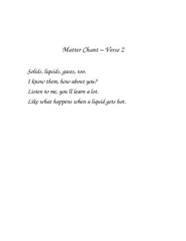 States of Matter Chant  -