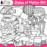 States of Matter Clip Art: Solids, Liquids, and Gases B&W {Glitter Meets Glue}