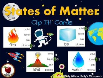 States of Matter Clip It! Cards