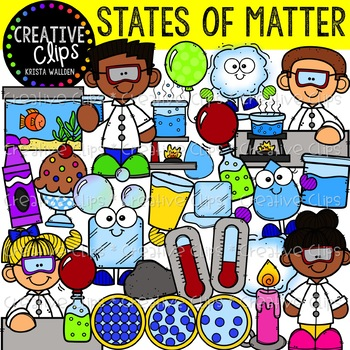 states of matter clipart creative clips clipart tpt rh teacherspayteachers com states of matter clipart Solids Liquids and Gases Clip Art