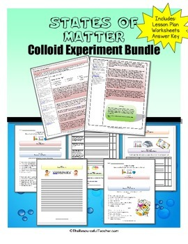 Science Activity - States of Matter / Colloid Activities Bundle