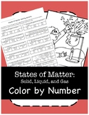 States of Matter Color By Number