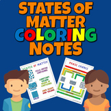 States of Matter Coloring Notes