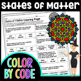 States of Matter Science Color By Number or Quiz