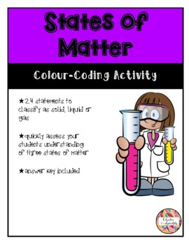 States of Matter - Colour-coding Activity