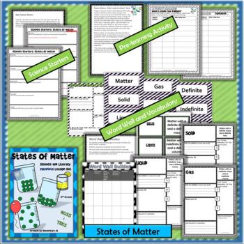 States of Matter: Complete Lesson Set Bundle (TEKS & NGSS) 5th Grade