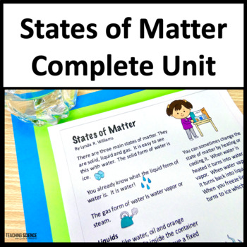 States of Matter Complete Unit 2nd Grade NGSS