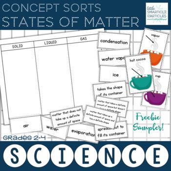 States of Matter Concept Sorts Freebie