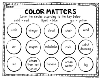 States of Matter: Craftivity and Printables