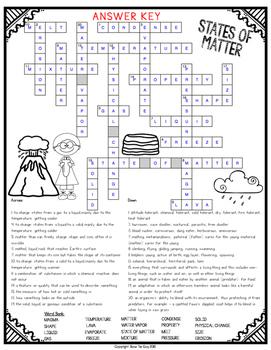 States of Matter Crossword