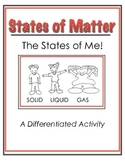 States of Matter Differentiated Activity