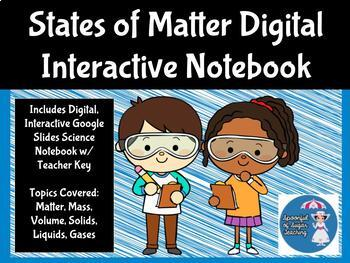 States of Matter Digital Interactive Science Notebook