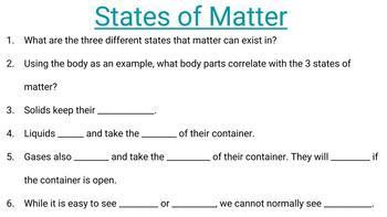 States of Matter Digital Resource