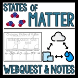 States of Matter Doodle Notes and Webquest