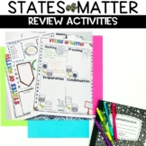 States of Matter Sketch Note Graphic Organizer Review Activity