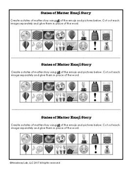 States of Matter Emoji Writing Prompt