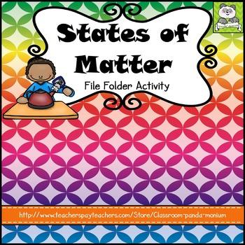 States of Matter File Folder Activity