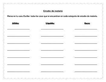States of Matter File Folder Game - (ENGLISH AND SPANISH)