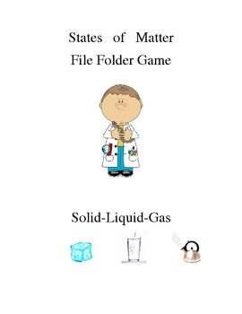 States of Matter File Folder Game