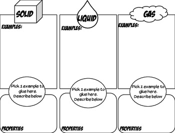 States of Matter Find, Sort, & Glue