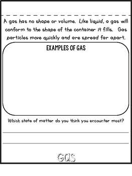 States of matter flip book free