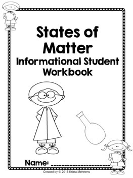 States of Matter Fun Lapbook with Student Informational Workbook
