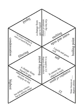 States of Matter Game Puzzle