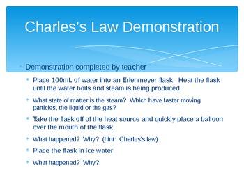States of Matter Gas Behavior Boyle Charles Law presenation