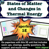 States of Matter and Thermal Energy Paperless 5E Lesson |