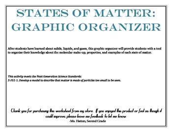 States of Matter: Graphic Organizer