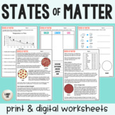 States of Matter - Guided Reading + Worksheets - Print & G