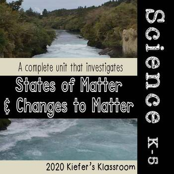 States of Matter Illustrated Vocabulary and Graphic Organizers