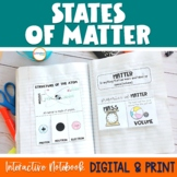 States of Matter Interactive Notebook
