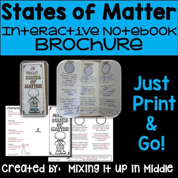 States of Matter Interactive Notebook Brochure