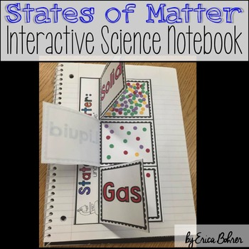 States of Matter Interactive Science Notebook