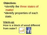 States of Matter Intro. Lab Activity