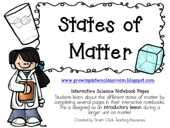 States of Matter Introduction ~ Interactive Science Notebook Pack