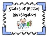 States of Matter Investigation