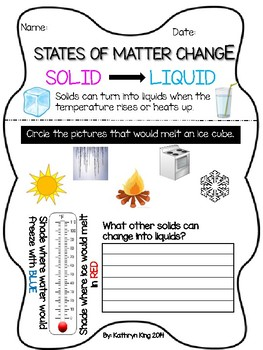 States of Matter Investigations